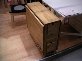 IKEA,無垢素材,家具,ゲートレッグテーブル,ドロップリーフテーブル